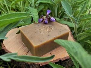 Krmešák Šalvia - prírodné bylinkové mydlo